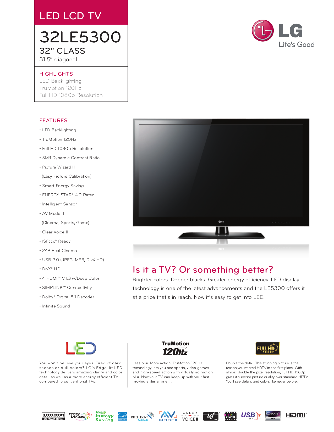 Download free pdf for LG 32LE5300 TV manual
